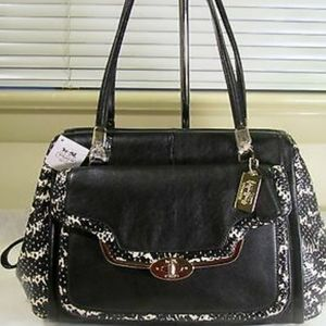 COACH PHYTON EMBOSSED SATCHEL BAG.